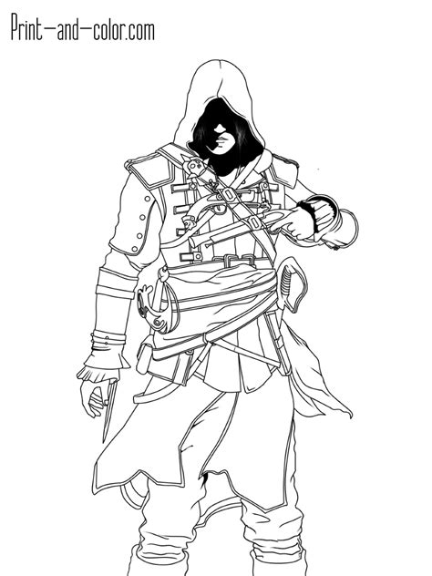 assassins creed colouring book assassin s creed coloring pages print and color com