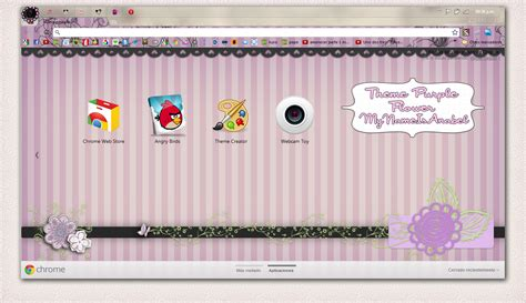 themes google chrome kawaii theme purple flower for google chrome by mynameisanabel on