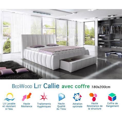 canapé avec coffre de rangement lit design avec coffre de rangement bedwood callie