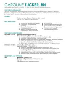 Resumes For Registered Nurses by Unforgettable Intensive Care Unit Registered Resume Exles To Stand Out Myperfectresume