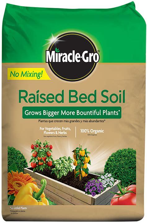 miracle gro raised bed soil miracle gro