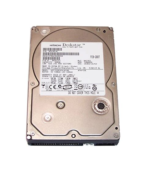 Hardisk Hitachi 320gb Hitachi 0a32157 Hdt 725032 Vlat 80 Deskstar 320gb 7200 Rpm