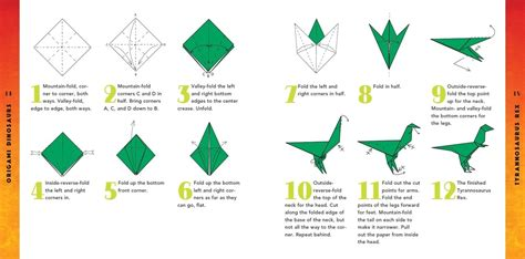 Origami Dinosaur - origami dinosaurs kit tuttle publishing