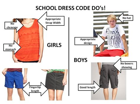 middle school girls dress code district policies bristol public schools