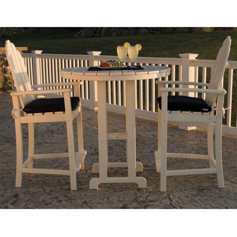 Polywood 174 Classic Adirondack Bar Set Pw Adirondack Set2 Outdoor Furniture Usa