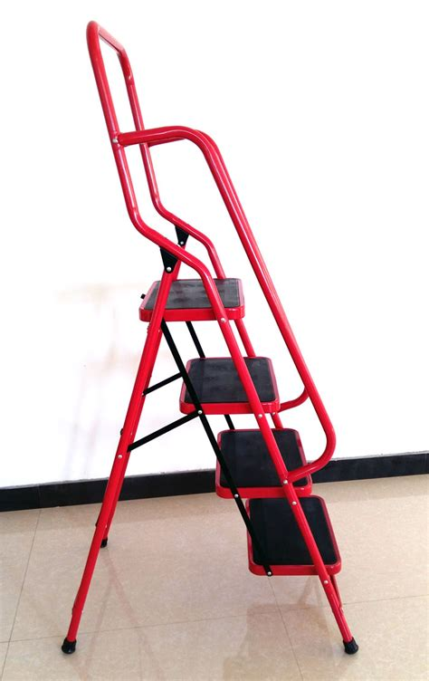 Small Step Ladder With Handrails iron folding ladder with handrail buy iron folding ladder 4 step ladder with handrail attic