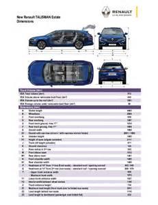 Renault Megane Estate Dimensions Dimensioni Renault Talisman Sporter