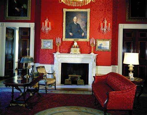 white house rooms blue green red rooms john