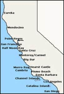 map california coastal cities image search results
