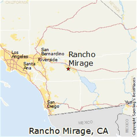 california map rancho mirage best places to live in rancho mirage california