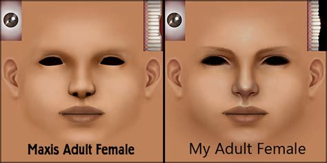 sims 2 skin texture mod the sims maxis faces with louis blush as facial