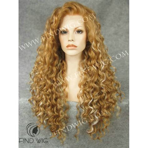 blonde highlighted wigs curly long highlighted straw blonde wig online wigs store