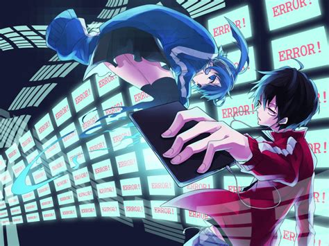 Actors Live Wallpaper by Black Hair Blue Blue Hair Ene Kagerou Project