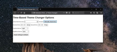 theme changer themes how to automatically switch to the dark theme at night in
