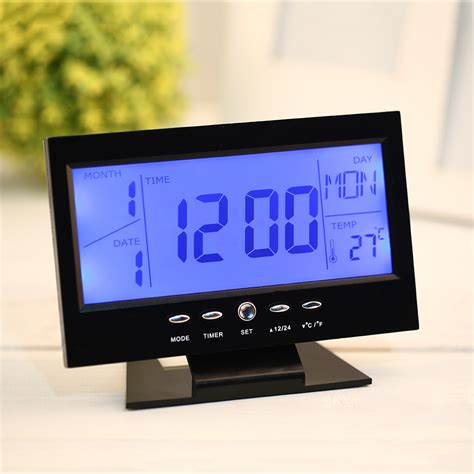 Wobble Lcd Clock Adds To Room by Ts 70 Digital Lcd Screen Display Wireless Indoor Outdoor