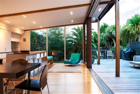 auckland bungalow  modern glass  timber extension