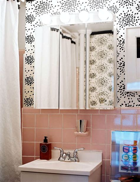 Modern Pink Tile Bathroom 24 Mid Century Modern Interior Decor Ideas Brit Co