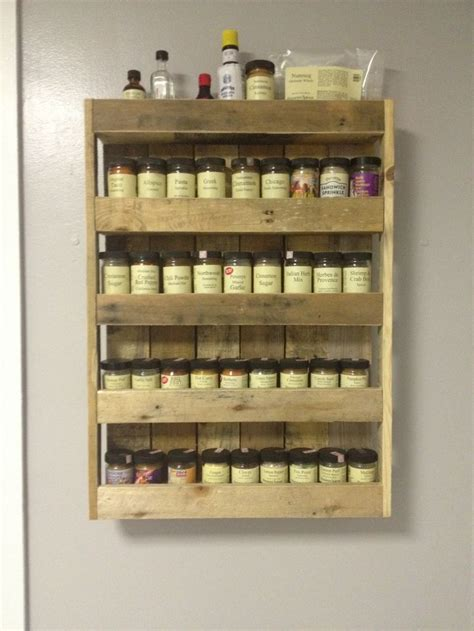 pallet spice rack ideas pallet wood projects 17 best ideas about pallet spice rack on wall spice rack spice rack design and