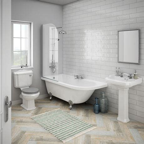 Black And White Bathroom Suites by Appleby Lh Traditional Bathroom Suite Plumbing Uk