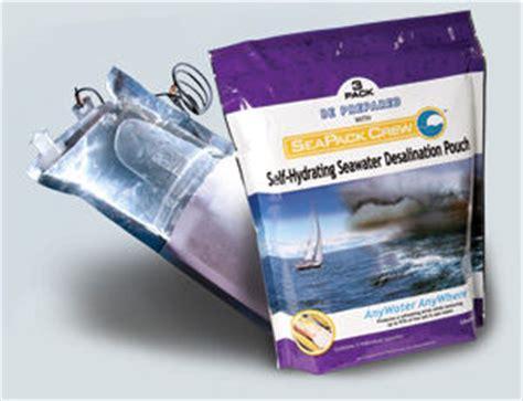 salt water desalination kits seapack crew emergency desalination pouch