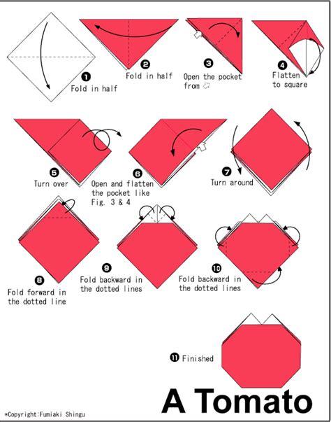 cara membuat origami dgn mudah cara membuat origami tomat dengan mudah cara mudah