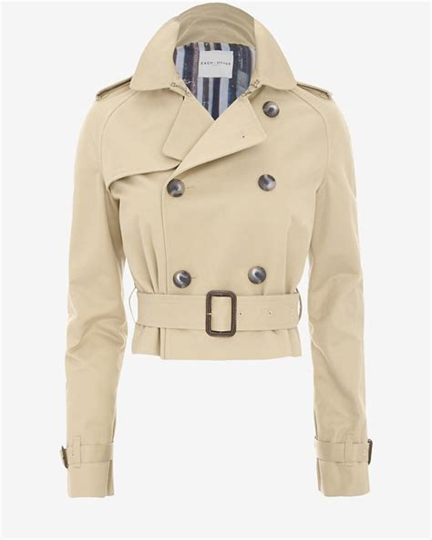 Cropped Trench Coats by Each X Other Cropped Trench Coat In Lyst