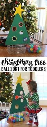 christmas tree ball sort for toddlers i can teach my child