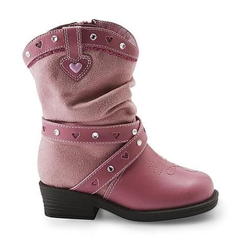 cowboy western boots pink toddler s size 6 7