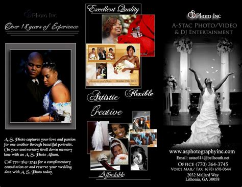 Wedding Dj Brochure by A Stac Photo Dj Entertainment