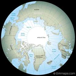 Map Of The World North Pole by North Pole World Map Www Galleryhip Com The Hippest Pics