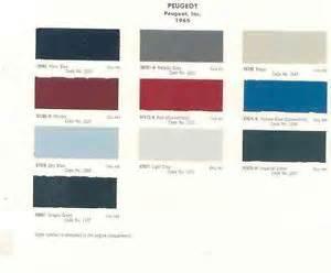Peugeot Paint Colours 1965 Peugeot Paint Color Chips Wi31 Jgut2d Ebay
