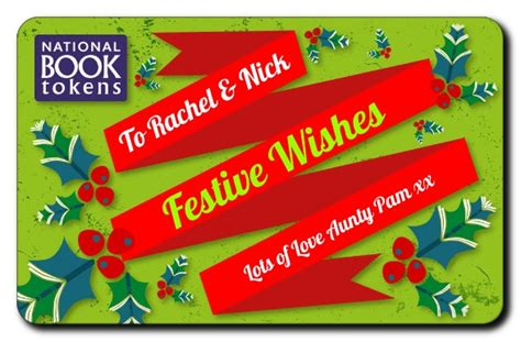 Book Token Gift Card - christmas national book tokens personalised gift cards and vouchers for book lovers