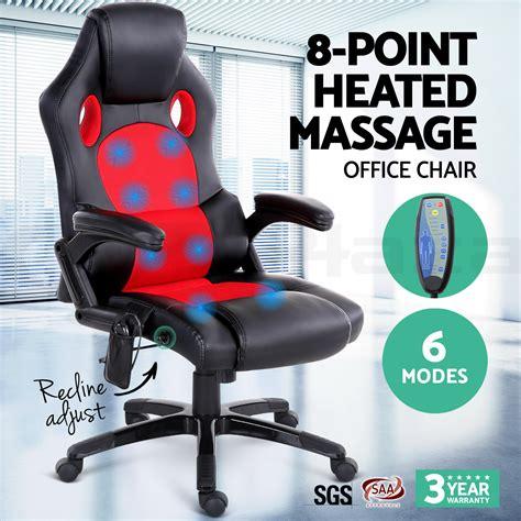 massaging office desk chair 8 point massage office chair racing executive heat