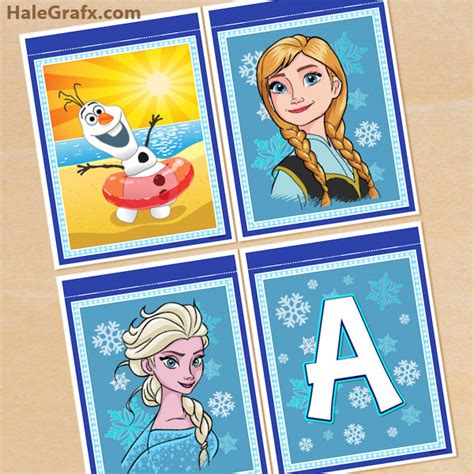 printable frozen banner letters free printable frozen alphabet and birthday banner pack