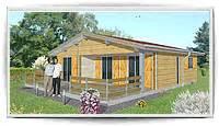 petit chalet en bois pas cher maison bois moderne 3 chambres toit plat