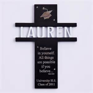 Silver Fortune Cookie Gift Graduation Wall Cross