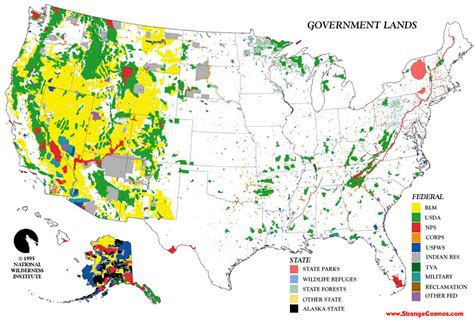 map us federal lands how much land does the federal government own