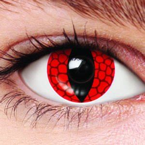 halloween red eye contacts red lizard contact lenses