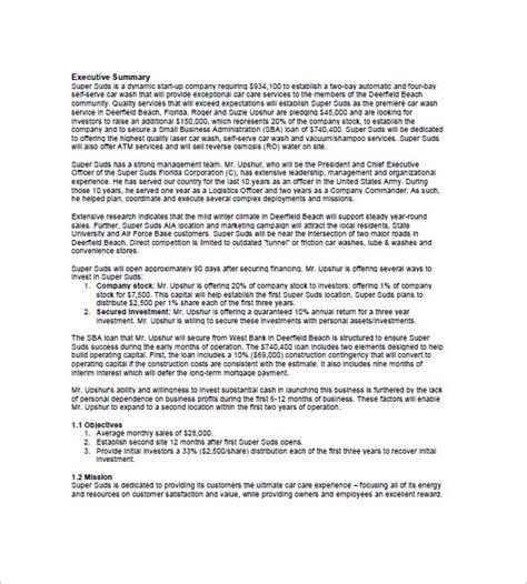 car statement template car wash business plan sle free
