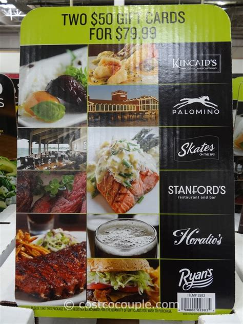 Costco Dining Gift Cards - restaurant gift card images usseek com