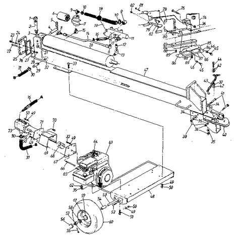 huskee log splitter parts diagram log splitter parts diagram 28 images homelite electric