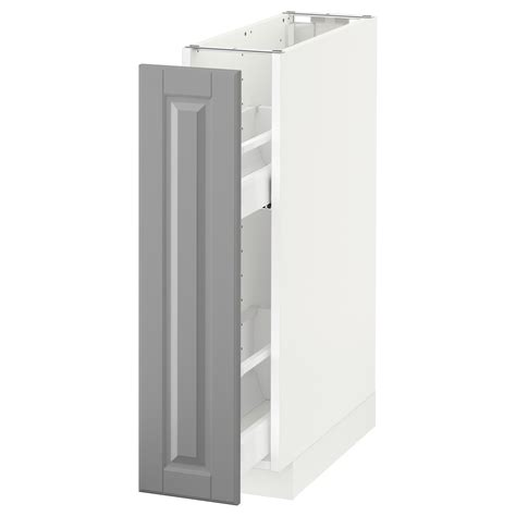 metod base cabinet pull out int fittings white bodbyn grey