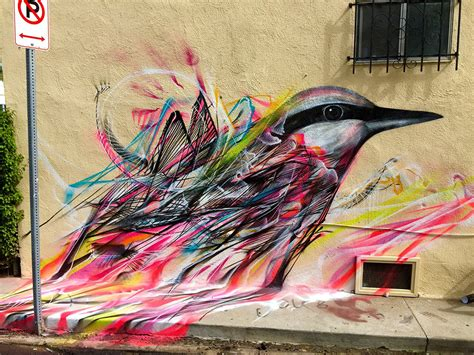 figures  birds emerge   kinetic flurry  spray