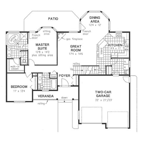 empty nest floor plans functional 2 bedroom empty nester main floor house