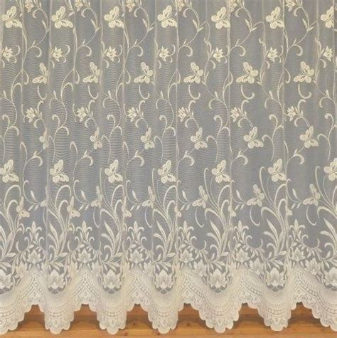 cream lace net curtains enchanted butterfly ivory cream net curtains many sizes