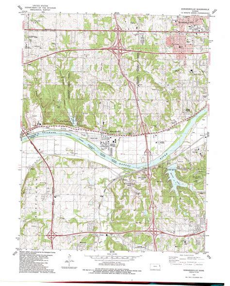 edwardsville topographic map ks usgs topo quad 39094a7