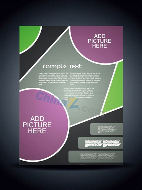 modern style design flyer template vector free