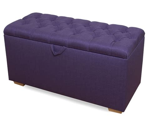 purple ottomans rennes purple linen large buttoned upholstered ottoman