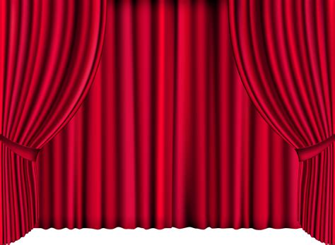 red curtain clipart stage curtains png