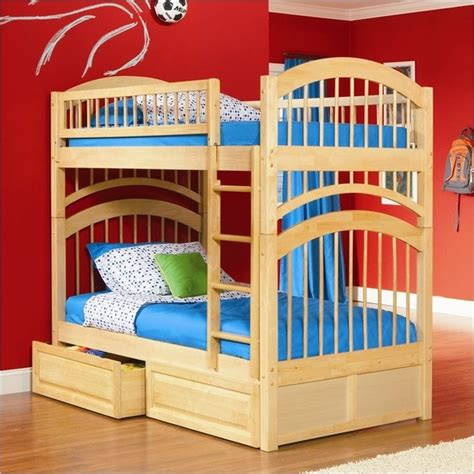 Maple Bunk Bed Modern Maple Finish Solid Wood Bunk Bed Modern Bunk Beds Other Metro By Adarn